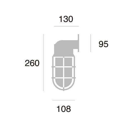 ビーチハウス ウォールランプ(コードなし / 屋外・屋内兼用)| アートワークスタジオ  -- 入荷待ち ご予約受付中!--