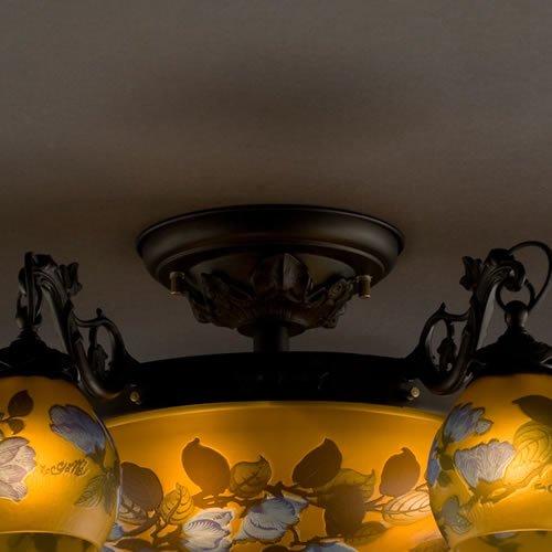 ガレコレクション 6+4灯シーリングシャンデリア 木蓮