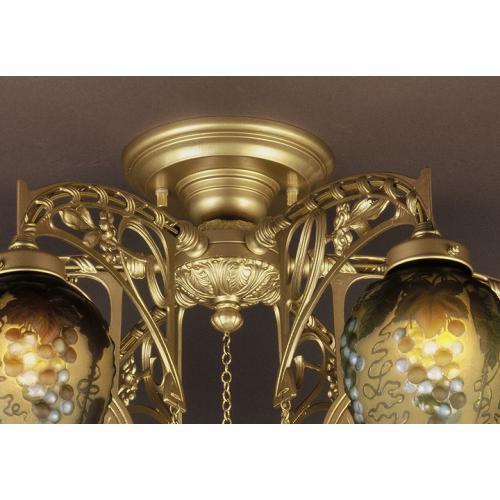 ガレコレクション 6灯シャンデリア ブルーグレープ