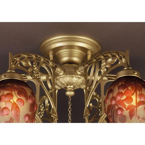 ガレコレクション 6灯シャンデリア レッドチェリー