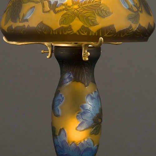 ガレコレクション 2灯テーブルスタンド 木蓮