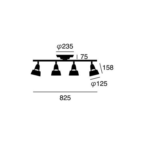 ハーモニーリモートシーリングランプ (BK ブラック) | アートワークスタジオ