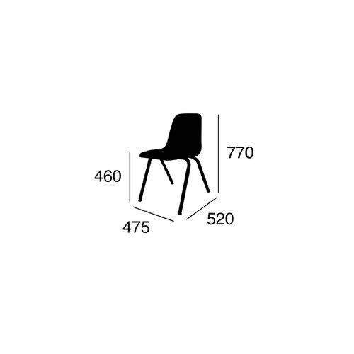 ヴァルコ スタッキング 9000 チェアー | VIRCO 9000 Chair チェアー (AG アッシュグリーン)   -- 入荷待ち ご予約受付中 --