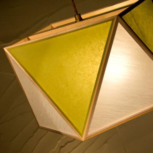 彩 sai L ペンダント(白 × 萌葱) 3灯タイプ | 新洋電気