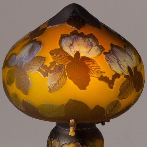 ガレコレクション 2灯テーブルスタンド マグノリア(木蓮)