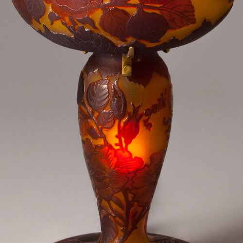 ガレコレクション 2灯テーブルスタンド 薔薇