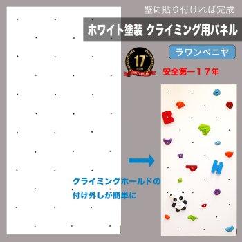 【ラワンベニヤ】ホワイト塗装 クライミングウォール用パネル   (何枚でも送料540円)
