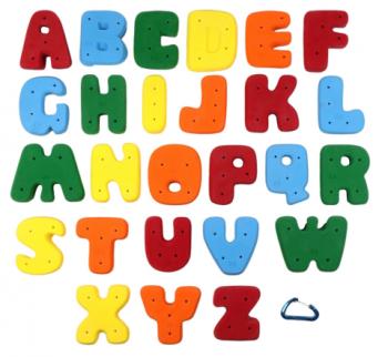 <img class='new_mark_img1' src='https://img.shop-pro.jp/img/new/icons24.gif' style='border:none;display:inline;margin:0px;padding:0px;width:auto;' />【Screwタイプ】アルファベット ABC クライミングホールドセット (26パック)  -  Full Set XL Alphabet ABC (Screw On)