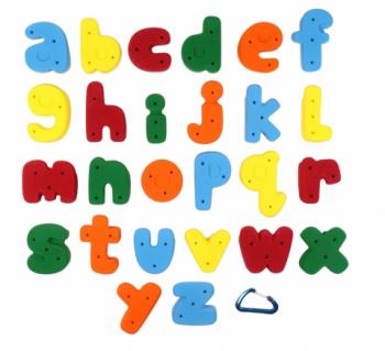 【Screwタイプ】Medium   アルファベット ABC  Screw-on(26パック)  -  Medium Alphabet クライミングホールド