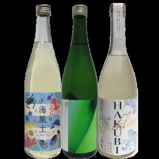 ゆだねてみます 夏3本セレクト(HAKUBI・海風土ブルー・草) recommended combinations for summer