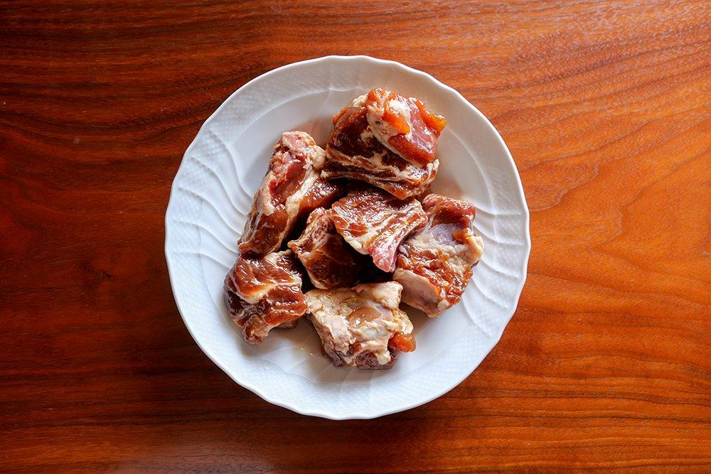 萬幻豚 味付けスペアリブ 500g バーベキューにおすすめ! ☆冷凍