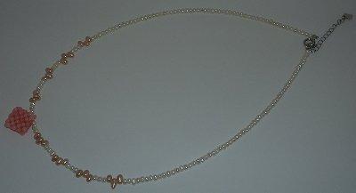 珊瑚淡水パールネックレス silver925