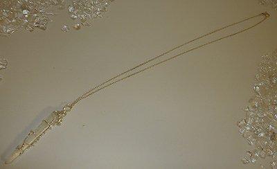 レムリアンシードクリスタル(水晶)・ジュエリーポイント シンキングレーザー silver925ペンダント