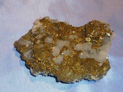 パイライトに珍しい水晶の結晶が入り、願望達成に最適な原石(大変レアなパワーストーン)1点物