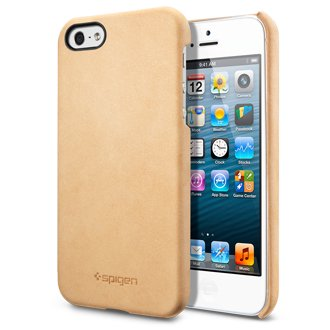 SPIGEN SGP iPhone5 ������ �����˥奤�󡦥쥶������å� [�ӥ�ơ��� �֥饦��]