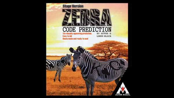 Zebra Code Prediction (Stage Version) by Astor and Louis Black - Trick