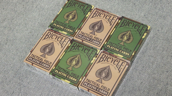 Bicycle Tactical Field Green Camo/Brown Camo (6 Decks) by US Playing Card Co