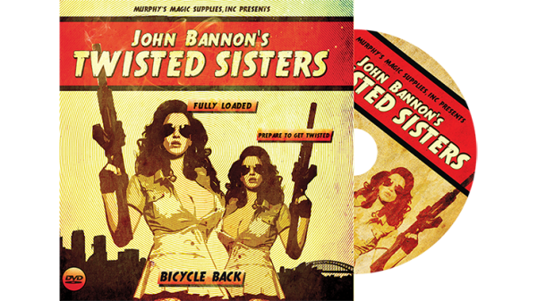 Twisted Sisters 2.0 (Gimmicks and Online Instructions) Bicycle Back by John Bannon - Trick