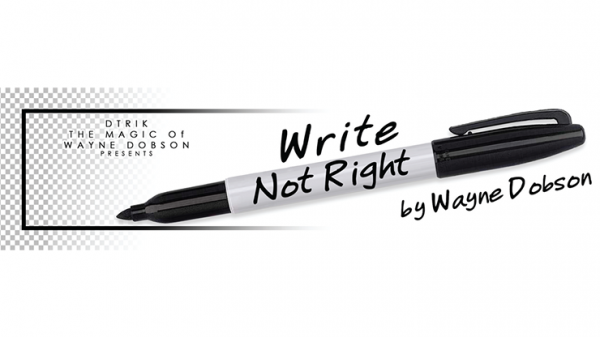 Write, Not Right Sharpie (Gimmicks and Online Instructions) by Wayne Dobson - Trick