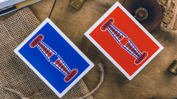 Modern Feel Jerry's Nuggets (Blue Stripper) Playing Cards