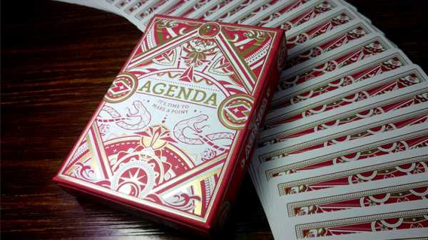 Agenda Red Premium Edition Playing Cards
