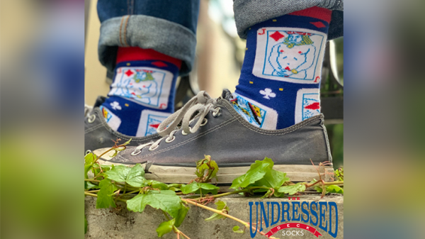 <img class='new_mark_img1' src='https://img.shop-pro.jp/img/new/icons5.gif' style='border:none;display:inline;margin:0px;padding:0px;width:auto;' />The Undressed Deck SOCKS  by Edi Rudo