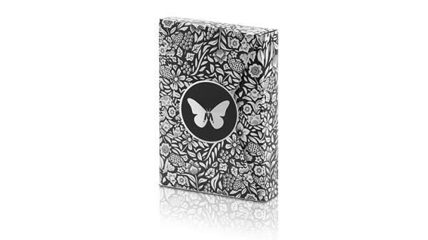 <img class='new_mark_img1' src='https://img.shop-pro.jp/img/new/icons9.gif' style='border:none;display:inline;margin:0px;padding:0px;width:auto;' />Limited Edition Butterfly Playing Cards Marked (Black and Silver) by Ondrej Psenicka