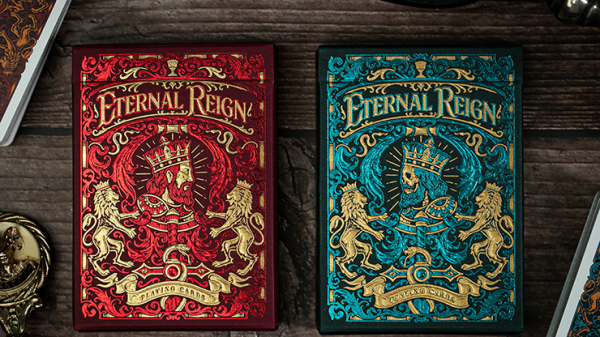 <img class='new_mark_img1' src='https://img.shop-pro.jp/img/new/icons5.gif' style='border:none;display:inline;margin:0px;padding:0px;width:auto;' />Eternal Reign (Sapphire Kingdom) Playing Cards by Riffle Shuffle