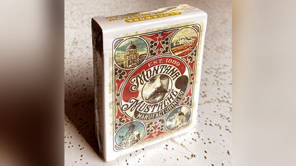 <img class='new_mark_img1' src='https://img.shop-pro.jp/img/new/icons6.gif' style='border:none;display:inline;margin:0px;padding:0px;width:auto;' />Clockwork: Montana Mustache Manufacturing Co. Playing Cards by fig 23