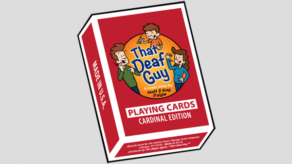 <img class='new_mark_img1' src='https://img.shop-pro.jp/img/new/icons8.gif' style='border:none;display:inline;margin:0px;padding:0px;width:auto;' />That Deaf Guy RED Cardinal Edition Playing Cards