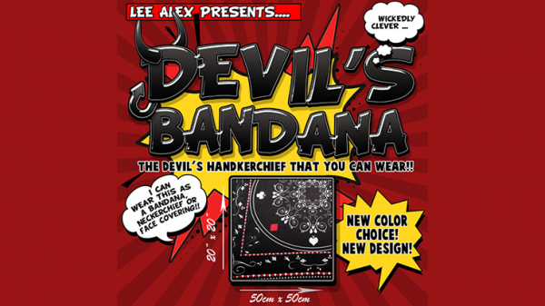 <img class='new_mark_img1' src='https://img.shop-pro.jp/img/new/icons13.gif' style='border:none;display:inline;margin:0px;padding:0px;width:auto;' />Devil's Bandana (Black) by Lee Alex - Trick