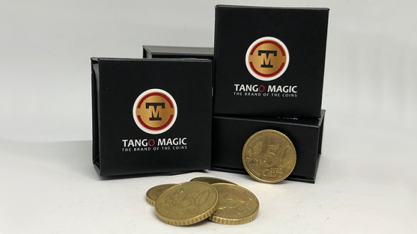 <img class='new_mark_img1' src='https://img.shop-pro.jp/img/new/icons13.gif' style='border:none;display:inline;margin:0px;padding:0px;width:auto;' />Perfect Shell Coin Set Euro 50 Cent (Shell and 4 Coins E0091) by Tango Magic - Trick