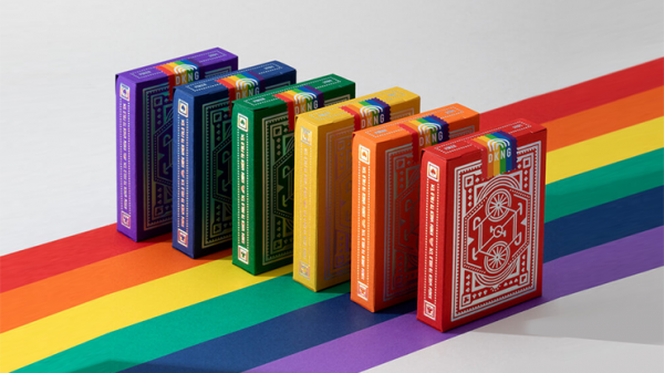 DKNG Rainbow Wheels (Blue) Playing Cards by Art of Play
