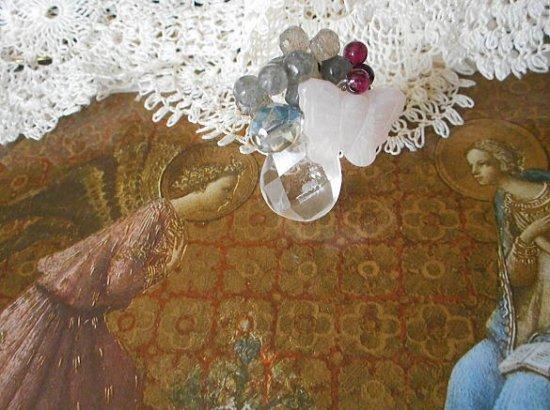 胡蝶の水晶リング