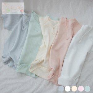 【メール便OK(03)】[PUPO][レールメッシュ半袖ロンパース][外縫い仕様][綿100%][[ホワイト/アイボリー/ピンク/ブルー/グリーン][70/80/90cm][日本製]