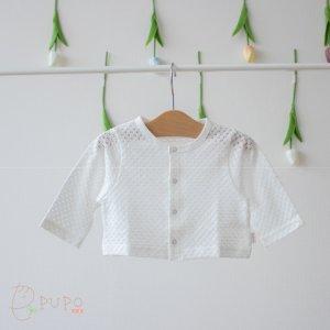 【メール便OK(05)】フォーマルにもカジュアルにも!シンプルで上品な透かし編みカーディガン 60-75cm/75-90cm