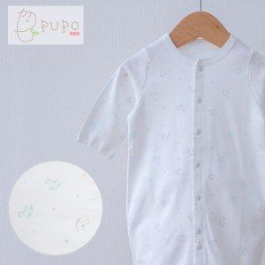 PUPO 2wayドレス 新生児 コーマスムース使用 木馬柄 綿100% 50-60cm 日本製