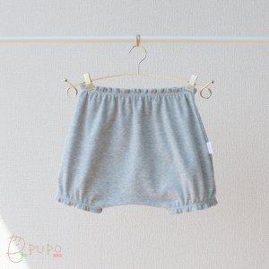 【メール便OK(05)】まあるい形でおむつもすっぽり!赤ちゃんのブルマ グレー杢 70-80cm 日本製
