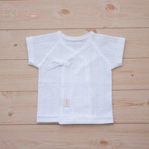 【メール便OK(03)】PUPO 選べる肌着 小さな赤ちゃんの短肌着 低出生体重児 レールメッシュ 綿100% 白 ホワイト 40-50cm 日本製