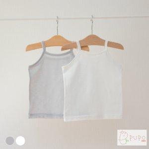 【メール便OK(03)】いつでもさらさら快適!綿100%のさらさら柔らかメッシュのキャミソールインナーシャツ 綿100% 外縫い仕様 ホワイト/ピンク 80/90/95cm 日本製