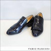 FABIO RUSCONI(ファビオルスコーニ)キルトオペラシューズ エナメルローファー 3097 CITY-NERO