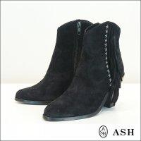 ASH(アッシュ)スタッズフリンジブーツ Indy Black