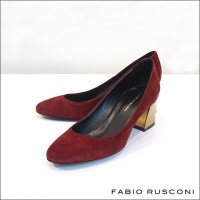 FABIO RUSCONI(ファビオルスコーニ)チャンキーヒールスウェードパンプス GREY714 AMALFI