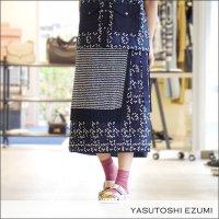 YASUTOSHI EZUMI(ヤストシエズミ)レースレイヤーニットスカート 17K06 Nvy/Wht