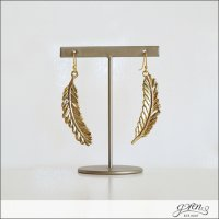 gren(グリン)メタルフェザーピアス 16ss03 metal feather Gld