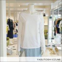 YASUTOSHI EZUMI(ヤストシエズミ)アウトショルダーカットソー 17CS02 White