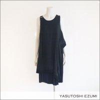 YASUTOSHI EZUMI(ヤストシエズミ)RESTAURO レイヤーワンピース 17OP04S Black