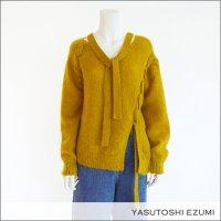 YASUTOSHI EZUMI(ヤストシエズミ)編み上げモヘヤニットプルオーバー 17KP03 Yellow