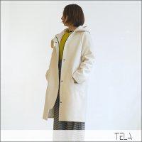 TELA(テラ)フード付きウールコート ESAME/AVORIO White
