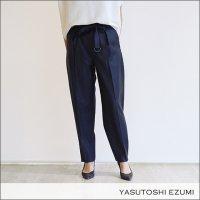 YASUTOSHI EZUMI(ヤストシエズミ)シャイニータイトパンツ SS18PA03 NAVY